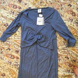 Women's midi maternity/nursing dress
